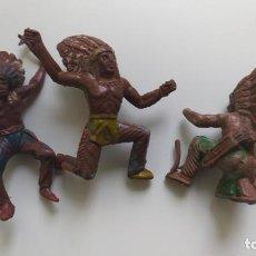 Figuras de Goma y PVC: INDIOS GOMA AÑOS 50. Lote 84512016