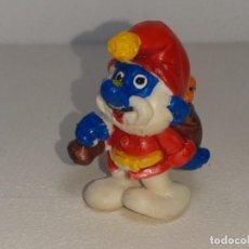 Figuras de Goma y PVC: ANTIGUA FIGURA DE GOMA DE LOS PITUFOS - SMURFS - PAPA PITUFO PAPA NOEL - AÑOS 80 SIN MARCAR. Lote 288869853