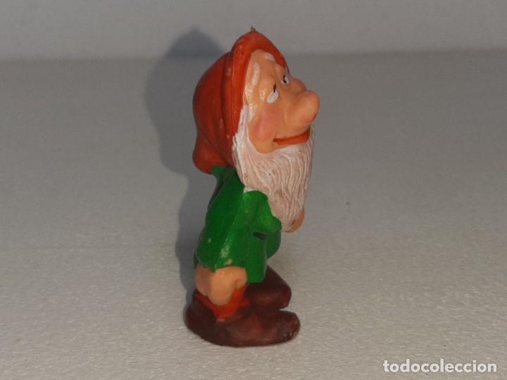 Figuras de Goma y PVC: ANTIGUA FIGURA DE GOMA DE ENANITO BLANCANIEVES Y LOS 7 ENANITOS PVC NO TOXICO AÑOS 80 - Foto 3 - 288888068
