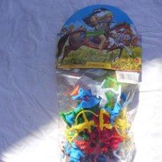Figuras de Goma y PVC: BOLSA PAQUETE GOMARSA INDIOS Y COWBOYS 4 CABALLOS CACTUS INSIGNIA SHERIFF CARTEL TO KENTUCKY. Lote 288981118