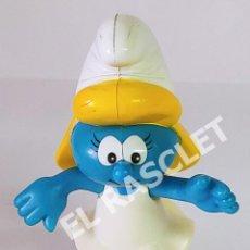 Figuras de Goma y PVC: FIGURA EN PVC DE : PITUFINA DE MCDONALD'S. AÑO 2002. MIDE 11 CM... Lote 288987093