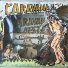 Figuras de Goma y PVC: CARAVANA DEL OESTE. SOTORRES. AÑOS 60. NUEVO. Lote 289221178