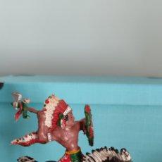 Figuras de Goma y PVC: LAFREDO SERIE GRANDE INDIO A CABALLO.. Lote 289364188