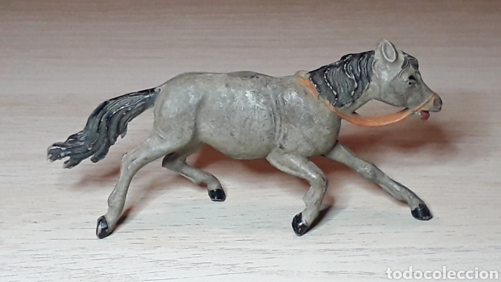 Figuras de Goma y PVC: Caballo indio oeste, goma, Jecsan made in Spain, original años 50. - Foto 2 - 289374663
