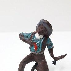Figuras de Goma y PVC: VAQUERO - COWBOY HERIDO . REALIZADO POR LAFREDO . ORIGINAL AÑOS 50 EN GOMA. Lote 289385788