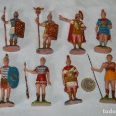 Figuras de Goma y PVC: VINTAGE - LOTE 8 FIGURAS - ROMANOS / GLADIADORES - JECSAN Y OTROS - MADE IN SPAIN -- ¡MIRA FOTOS!. Lote 289432658