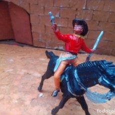 Figuras de Goma y PVC: VAQUERO Y CABALLO DE JECSAN. Lote 289465118