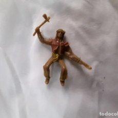 Figuras de Goma y PVC: FIGURA INDIO MONTADO A CABALLO PVC REAMSA COMANSI JECSAN PEACH LAFREDO. Lote 289626578