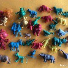 Figuras de Goma y PVC: LOTE DE ANTIGUAS FIGURITAS VARIADAS TIPO DUNKIN AÑOS 70. Lote 289651253