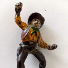 Figuras de Goma y PVC: FIGURA CONDUCTOR CARAVANA DILIGENCIA GOMA PECH. Lote 289757673