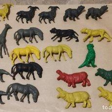 Figuras de Goma y PVC: LOTE DE ANIMALES PLASTICO GOMA DURA AÑOS 70 80 TIPO DUNKIN QUIOSCO KIOSCO JUGUETE MUÑECOS FIGURAS. Lote 289890938
