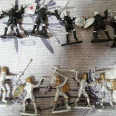 Figuras de Goma y PVC: FIGURAS DE GUERREROS LOTE DE 10. Lote 290575028
