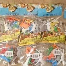 Figuras de Goma y PVC: OCASION COLECCIONISTAS ! LOTE 10 BOLSAS BLISTERS NUEVOS SIN ABRIR INDIOS Y COWBOYS GOMARSA AÑOS 80. Lote 290754773