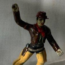 Figuras de Goma y PVC: VAQUERO EN GOMA. FABRICADO POR SOTORRES. AÑIS 59. Lote 291250003