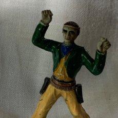 Figuras de Goma y PVC: VAQUERO EN GOMA. FABRICADO POR SOTORRES. AÑIS 50. Lote 291250193
