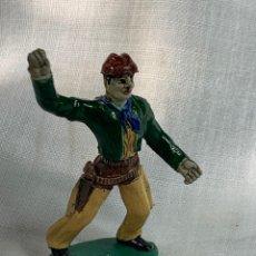 Figuras de Goma y PVC: VAQUERO EN GOMA. MARCA SOTORRES. AÑOS 50. Lote 291252803