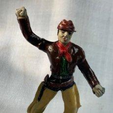 Figuras de Goma y PVC: VAQUERO EN GOMA. MARCA SOTORRES. AÑIS 50. Lote 291253848