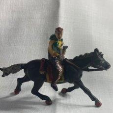 Figuras de Goma y PVC: VAQUERO A CABALLO. MARCA SOTORRES. AÑOS 50. Lote 291289088