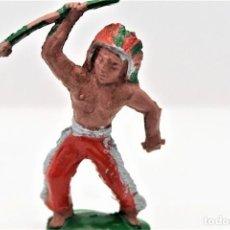 Figuras de Goma y PVC: ANTIGUA FIGURA DEL OESTE EN GOMA. ALCA CAPELL . 40/45 MM AÑOS 50/60. Lote 292222603