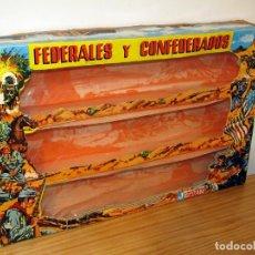 Figuras de Borracha e PVC: ANTIGUA CAJA VACIA DE LOS FEDERALES Y CONFEDERADOS, DE JECSAN - REF. 702. Lote 293297603