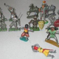 Figuras de Goma y PVC: LOTE CABALLEROS, MEDIEVALES, CRESCENT, STARLUX, ELASTOLIN, TIMPO, MOKAREX, CODY-MARCH. Lote 293430948