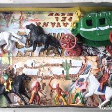 Figuras de Goma y PVC: CARAVANA DEL OESTE. DILIGENCIA. SOTORRES. AÑOS 60. NUEVA. Lote 293480248