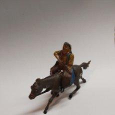 Figure di Gomma e PVC: VAQUERO GOMA PECH, REAMSA, JECSAN DE LOS 50-60 A CABALLO. Lote 293509938