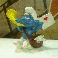 Figuras de Goma y PVC: PITUFO CARTERO. Lote 293813108