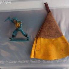 Figuras de Goma y PVC: TIENDA INDIA CON VAQUERO PECH. Lote 293918588
