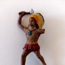 Figuras de Goma y PVC: FIGURA INDIO GOMA REAMSA. Lote 293959018