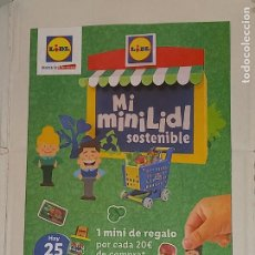 Figuras de Goma y PVC: FOLLETO CATÁLOGO LIDL MI MINILIDL SOSTENIBLE.. Lote 294106263