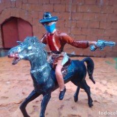 Figuras de Goma y PVC: VAQUERO Y CABALLO DE COMANSI. Lote 294386098