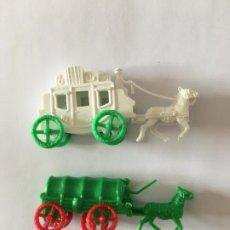 Figuras de Goma y PVC: MONTAPLEX - LOTE CARAVANA Y DILIGENCIA. Lote 294433598