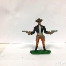 Figuras de Goma y PVC: FIGURA VAQUERO COWBOY COMANSI SCHERIF CHERIF OESTE WESTERN YANQUI NO PECH REAMSA JECSAN. Lote 294507428