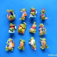 Figuras Kinder: PEQUEÑAS FIGURAS HUEVOS DE KINDER SORPRESA. COCODRILOS.1991. SIN MÁS DATOS.. Lote 294866478