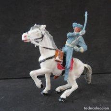 Figuras de Goma y PVC: PECH 7TH DE CABALLERIA FIGURA CON CABALLO. Lote 294971373