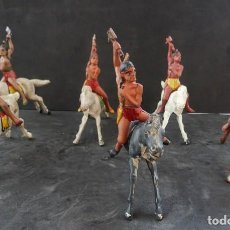 Figuras de Goma y PVC: REAMSA INDIOS A CABALLO GOMA. Lote 294974403