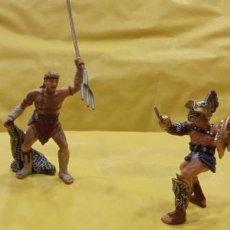 Figuras de Goma y PVC: LOTE DE FIGURAS DE ROMANOS. LUCHA DE GLADIADORES. Lote 295225548