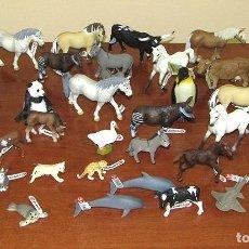 Figuras de Goma y PVC: LOTE 34 FIGURAS DE ANIMALES DE SCHLEICH - NUEVOS - CABALLO, BURRO, PINGUINO, DELFIN, PANTERA, FOCA... Lote 295399733