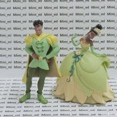 Figuras de Goma y PVC: 2 FIGURAS PVC BULLYLAND TIANA Y EL SAPO PRÍNCIPE DIBUJOS ANIMADOS PRINCESAS DISNEY. Lote 295538993