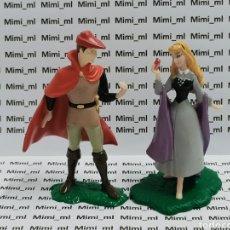 Figuras de Goma y PVC: 2 FIGURAS PVC PRINCESAS DISNEY BELLA DURMIENTE AURORA PRÍNCIPE JUAN. Lote 295542278