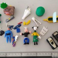 Figuras Kinder: LOTE FIGURAS KINDER FIGURITAS COCHE DISNEY PIEZAS MUÑECO JUGUETE. Lote 295639428