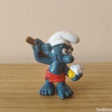 Figuras de Goma y PVC: PITUFO DUCHA BAÑO SCHLEICH. Lote 295642528