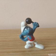 Figuras de Goma y PVC: PITUFO FORZUDO SCHLEICH. Lote 295642998