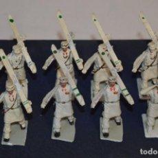Figuras de Goma y PVC: ESQUIADORES / MONTAÑA - ANTIGUO/VINTAGE - 9 SOLDADOS DESFILANDO - REAMSA Y GOMARSA - ¡MIRA FOTOS!. Lote 295715308