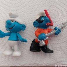 Figuras de Goma y PVC: PITUFO SUBMARINISTA + BÁSICO. Lote 295866698