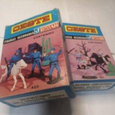 Figuras de Goma y PVC: JECSAN DOS CAJAS FEDERALES Y COMFEDERADOS. Lote 295893233
