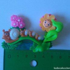 Figuras Kinder: FLOR KINDER FERRERO BICHO INSECTO PUZZLE 3D PUZLE FLORECILLA CARACOL CARACOLITO CARACOLES. Lote 295946598