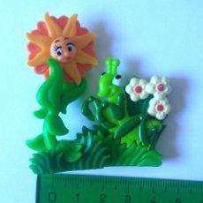 Figuras Kinder: FLOR KINDER FERRERO BICHO INSECTO PUZZLE 3D PUZLE FLORECILLA SALTAMONTES GRASSHOPPER. Lote 295946733