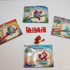 Figuras de Goma y PVC: LAPIÑECO COLECCION TAZMANIA 5 MODELOS DIFERENTES PROMOCIONAL DE DANONE. Lote 295972008
